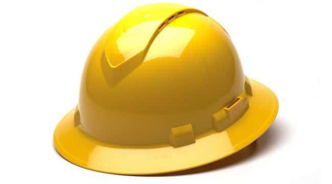 Pyramex Safety ProductsRidgeline Vented Full Brim Hard Hat:Personal Protective