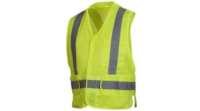 Pyramex Safety Products Hi-Visibility Self-Extinguishing Safety Vest Lime;