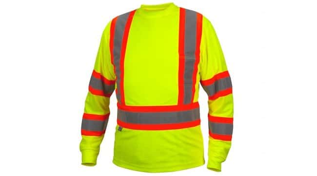 Pyramex Safety Products Moisture Wicking Long Sleeve T-Shirt Lime; Large:Gloves,