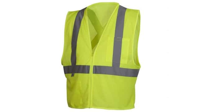 Pyramex Safety Products Hi-Vis Safety Vest with Reflective Tape Lime; 4X-Large:Gloves,