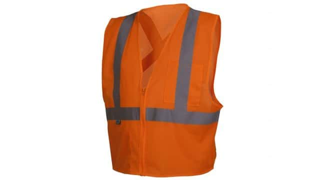 Pyramex Safety Products Hi-Vis Safety Vest with Reflective Tape Orange;