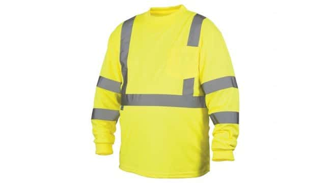 Pyramex Hi-Vis Lime Long Sleeve T-Shirt 3X-Large:Gloves, Glasses and Safety
