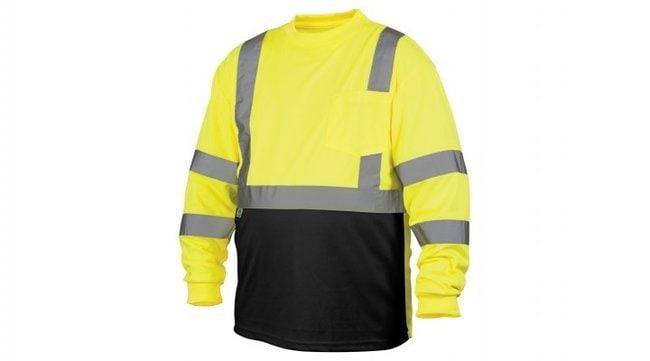 Pyramex Hi-Vis Long Sleeve T-Shirts Hi-Vis Lime, 3X-Large:Gloves, Glasses