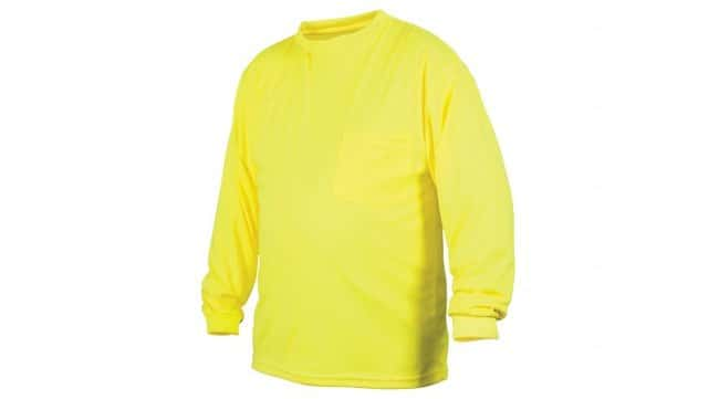 Pyramex Non-Rated Hi-Vis T-Shirts Long Sleeves, 4X-Large:Gloves, Glasses