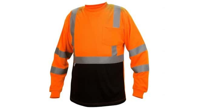 Pyramex Hi-Vis Long Sleeve T-Shirts Hi-Vis Orange, 2X-Large:Gloves, Glasses