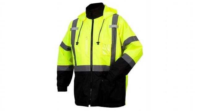 Pyramex Class 3 Weatherproof Parkas Hi-Vis Lime, 4X-Large:Gloves, Glasses