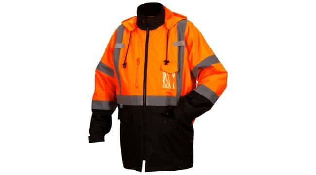 Pyramex Class 3 Weatherproof Parkas Hi-Vis Orange, 3X-Large:Gloves, Glasses