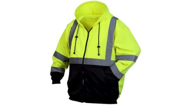 Pyramex RSZH32 Series Winter Wear Zip-up Sweatshirt X-Large:Gloves, Glasses