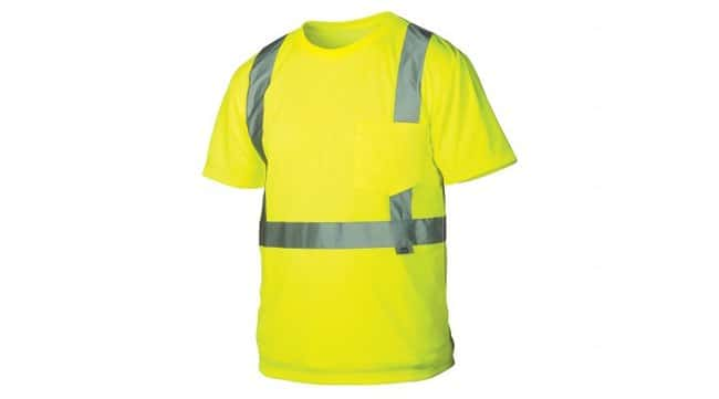 Pyramex Hi-Vis T-Shirts with Reflective Stripes Hi-Vis Lime, 3X-Large:Gloves,