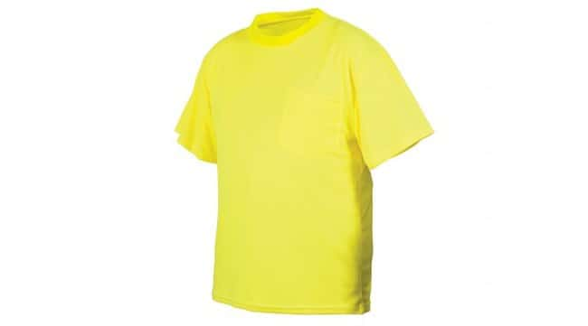 Pyramex Non-Rated Hi-Vis T-Shirts Short Sleeves, 3X-Large:Gloves, Glasses