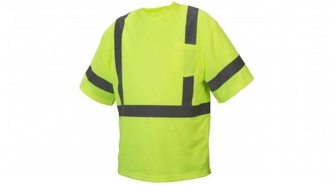 Pyramex Hi-Vis Reflective T-Shirts Hi-Vis Lime, X-Large:Gloves, Glasses