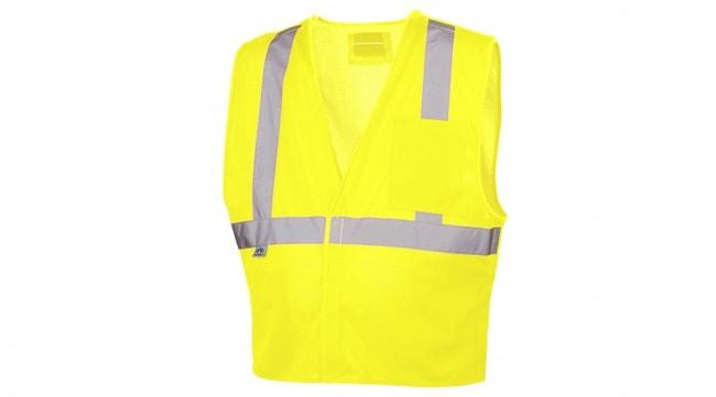 Pyramex 5 Point D-Ring Hi-Vis Safety Vest Hi-Vis Lime, 3X-Large:Gloves,