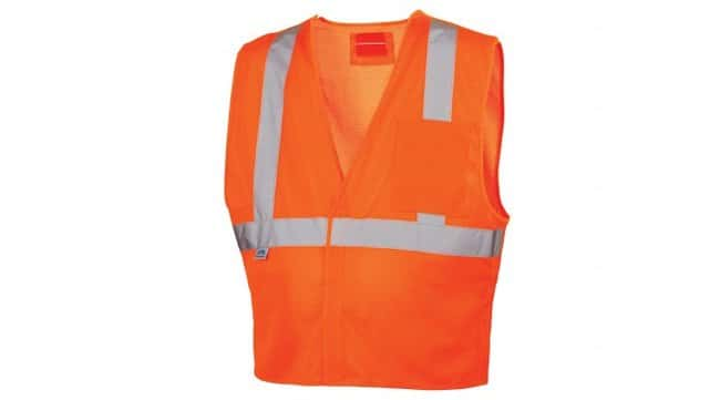 Pyramex 5 Point D-Ring Hi-Vis Safety Vest:Gloves, Glasses and Safety:Personal