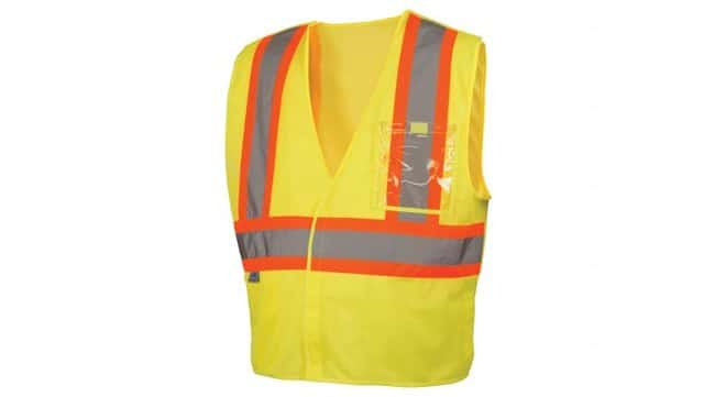 Pyramex 5 Point Break Hi-Vis Safety Vests Hi-Vis Lime, 2X-Large:Gloves,