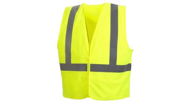 Pyramex Hi-Vis Reflective Safety Vests Hi-Vis Lime, Large:Gloves, Glasses