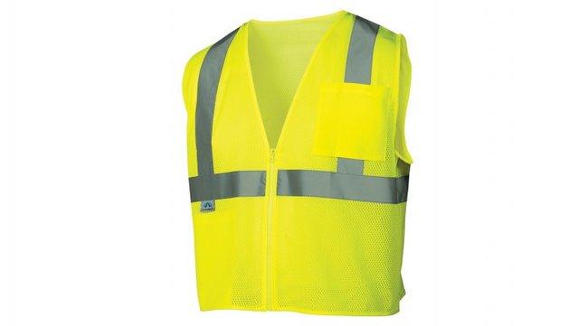 Pyramex RVZ22SE Series - Self Extinguishing Safety Vest Hi-Vis Lime, 5X-Large:Gloves,