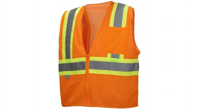 Pyramex RVZ22 Series - Safety Vest Hi-Vis Orange, 5X-Large:Gloves, Glasses