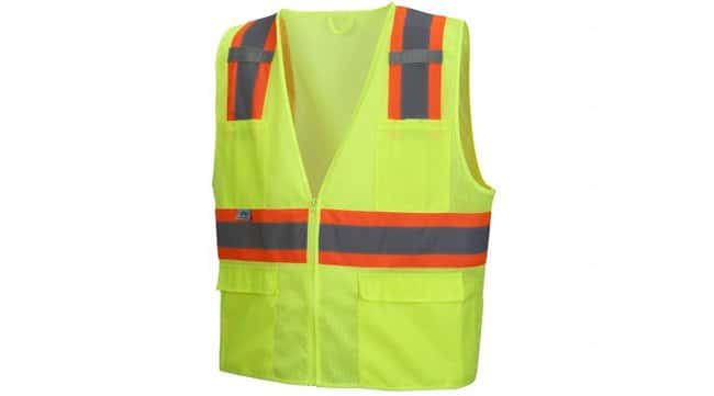 Pyramex RVZ23 Series - Safety Vest Hi-Vis Lime, 4X-Large:Gloves, Glasses