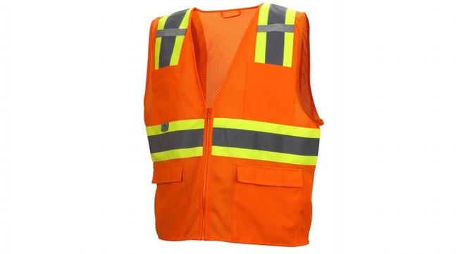 Pyramex RVZ23 Series - Safety Vest Hi-Vis Orange, 4X-Large:Gloves, Glasses
