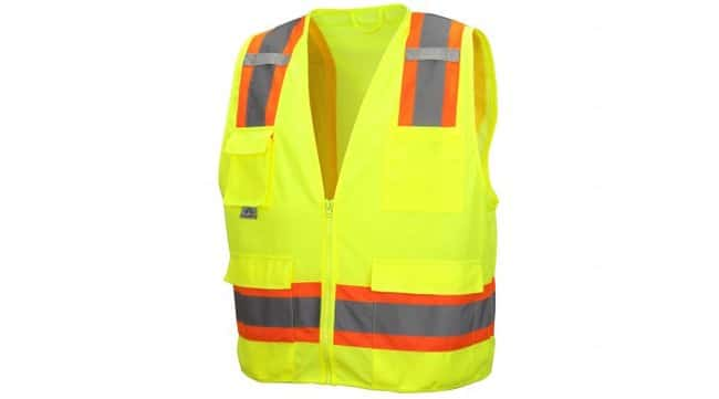 Pyramex RVZ24 Series - Safety Vest Hi-Vis Lime, 2X-Large:Gloves, Glasses
