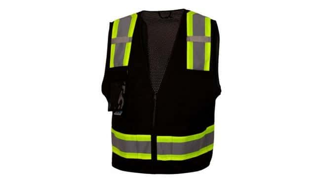 Pyramex SafetyBlack Reflective Safety Vest:Personal Protective Equipment:Safety