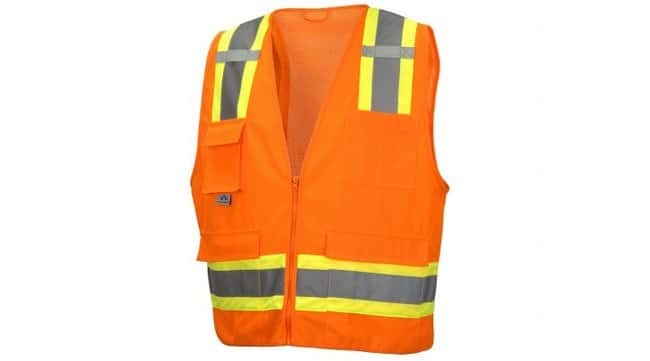 Pyramex RVZ24 Series - Safety Vest Hi-Vis Orange, Small:Gloves, Glasses