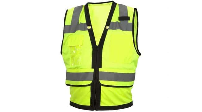 Pyramex RVZ28 Series - Safety Vest Hi-Vis Lime, Large:Gloves, Glasses and