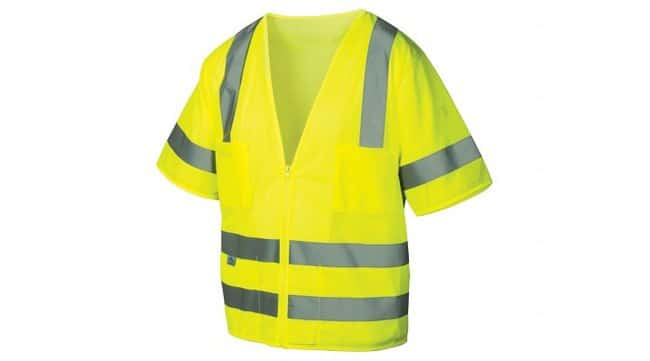 Pyramex RVZ31 Series - Safety Vest Hi-Vis Lime, Medium:Gloves, Glasses