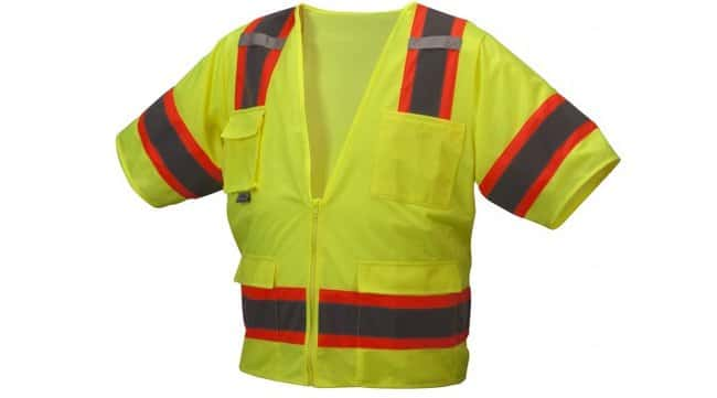 Pyramex RVZ34 Series - Safety Vest Hi-Vis Lime, 3X-Large:Gloves, Glasses