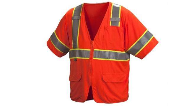 Pyramex RVZ35 Series - Safety Vest Hi-Vis Orange, 3X-Large:Gloves, Glasses