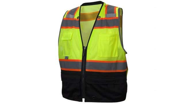 Pyramex RVZ44B Series - Safety Vest Hi-Vis Lime, X-Large:Gloves, Glasses