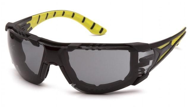 Pyramex Endeavor Plus Anti-Fog Safety Glasses Black/Green Foam, Gray/H2MAX:Gloves,
