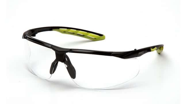 Pyramex Flex-Lyte Safety Glasses with H2MAX Lens Black/Lime, Clear/H2MAX