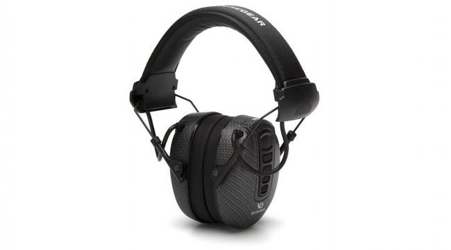 Pyramex Venture Gear - Electronic Earmuffs Clandestine, Black Graphite:Gloves,