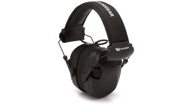 Pyramex Venture Gear - Electronic Earmuffs Sentinel, Black:Gloves, Glasses