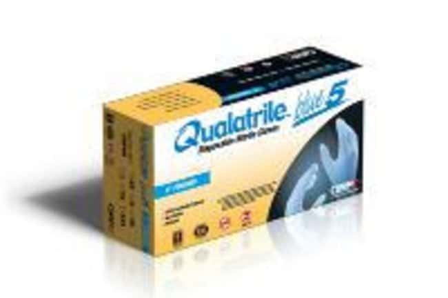 QRP Qualatrile Blue Nitrile 9 in Low Powder Gloves Size: 2X-Large:Gloves,