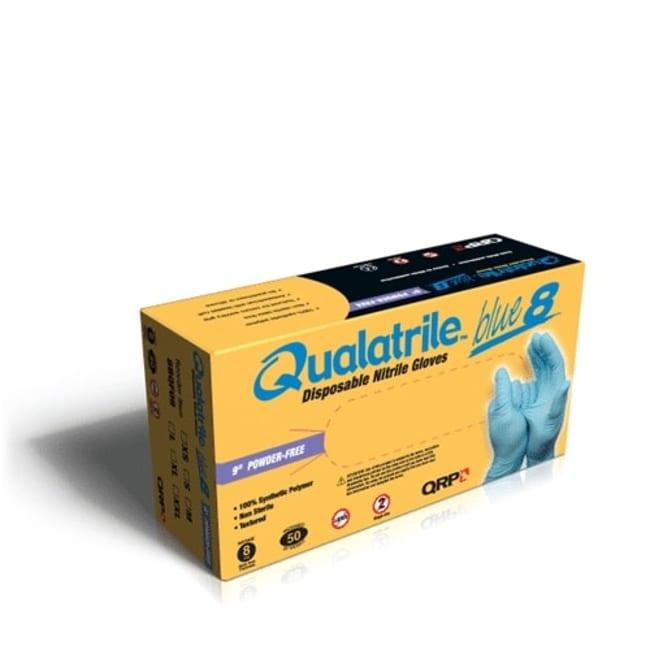 QRP Qualatrile Blue Nitrile 9 in Powder-Free Gloves Size: X-Large:Gloves,