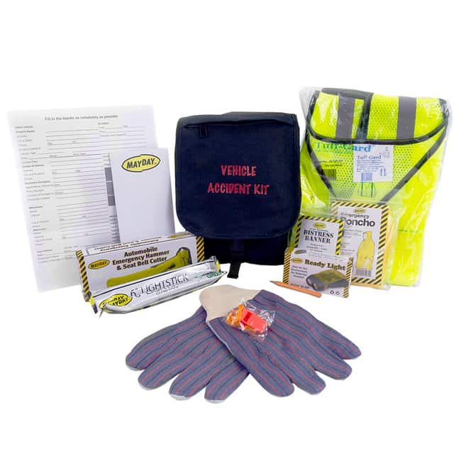 Ready America Mayday Vehicle Accident Emergency Kit Color: Black:First