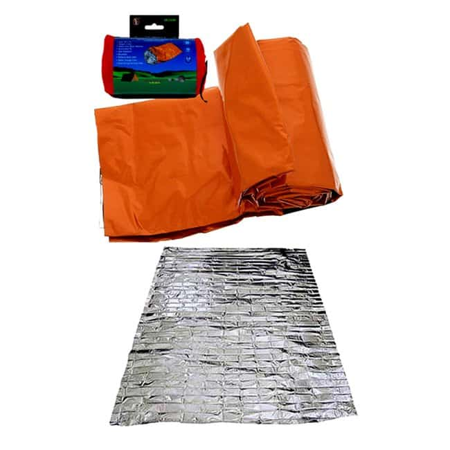 Ready America Emergency Sleeping Bag, 12 Pack Color: Orange:First Responder