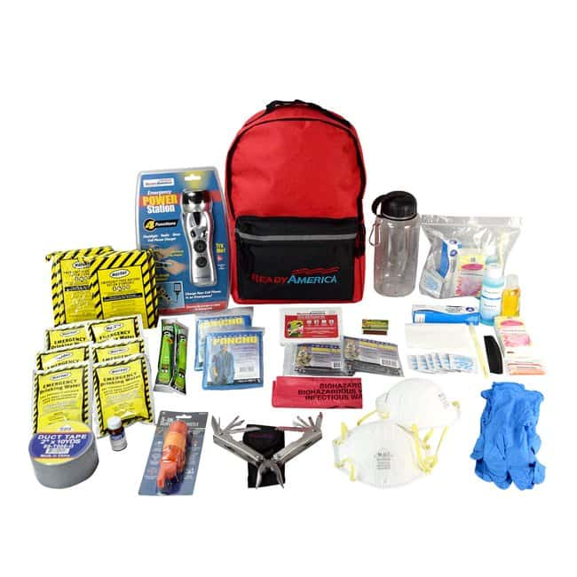 Ready America 2 Person Deluxe Emergency Kit Color: Red:First Responder