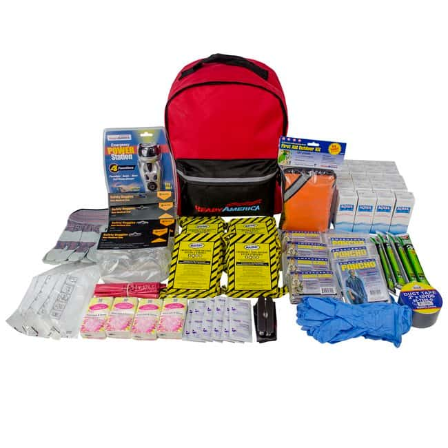 Ready America 4 Person Deluxe Emergency Kit Color: Red:First Responder