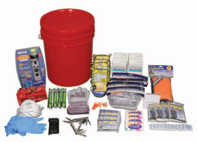 Ready America 4 Person Deluxe Emergency Kit Bucket Color: Red:First Responder