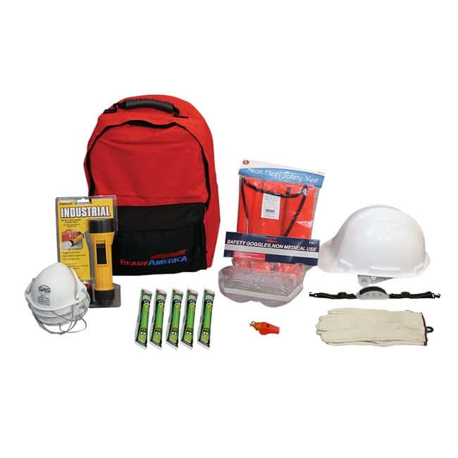 Ready America Floor Warden Emergency Kit, 2 Pack Color: Red:First Responder