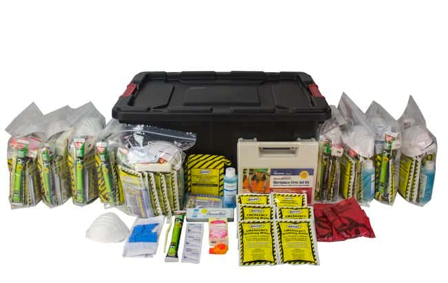 Ready America 10 Person Emergency Kit Color: Black:First Responder Products