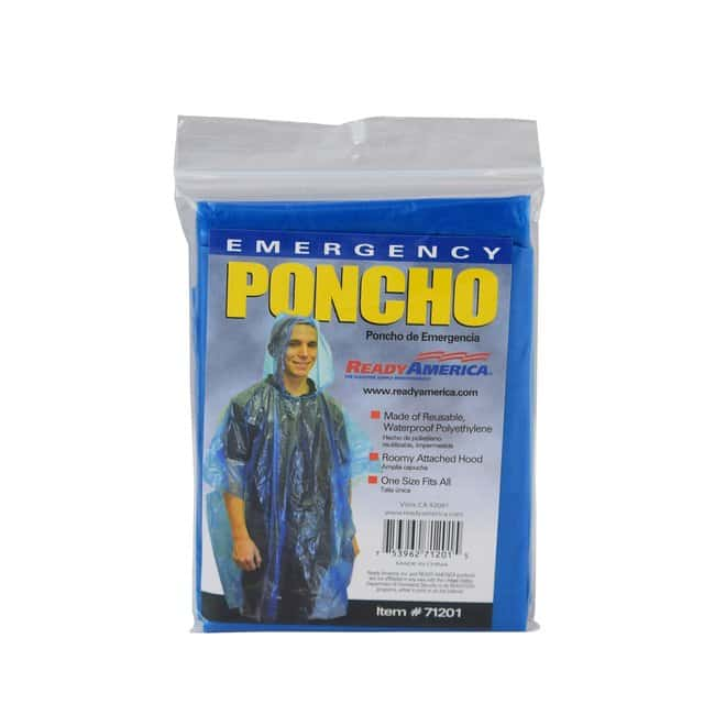Ready America Emergency Poncho, 50 Pack Color: Silver:First Responder Products