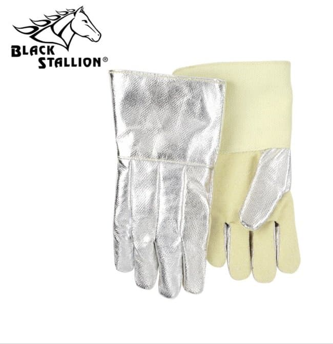 Black Stallion Aluminized Carbon/Aramid Fiber Gloves with Wool Insulation