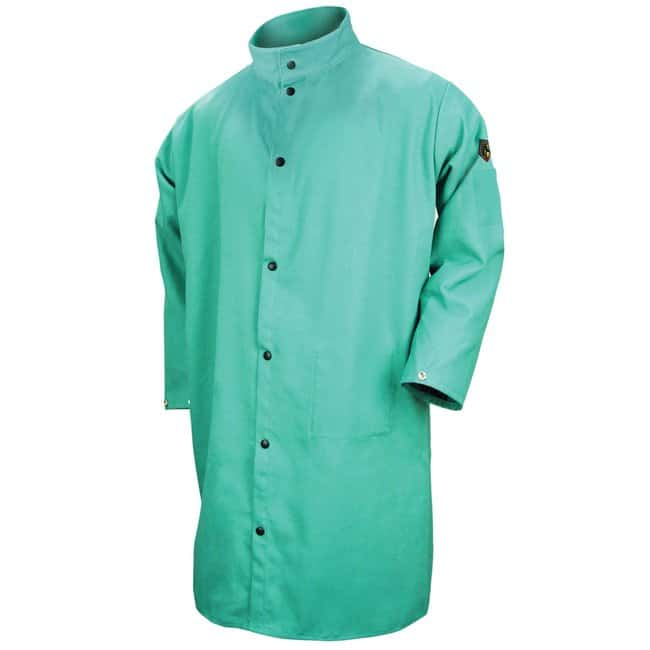 Black Stallion 9 oz. FR Cotton Shop Coat Green; 42 in.; Size: Extra large:Gloves,