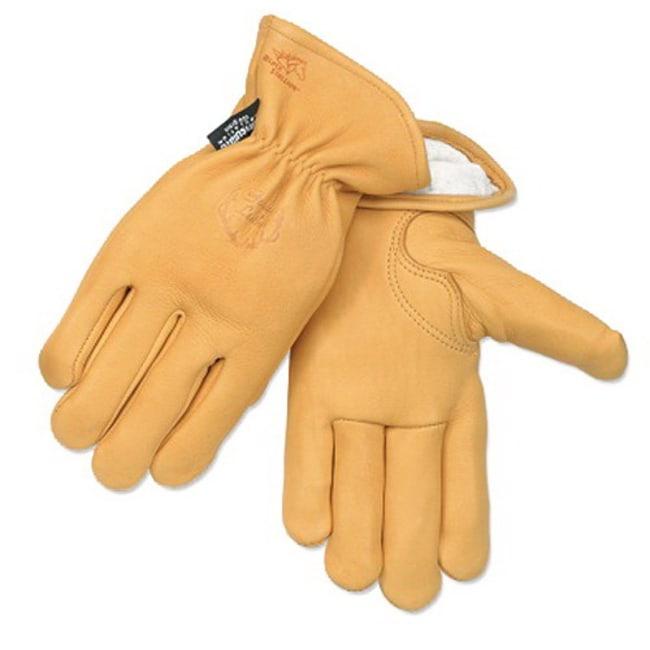 Black Stallion Grain Elkskin Thinsulate Insulation Winter Gloves Size: