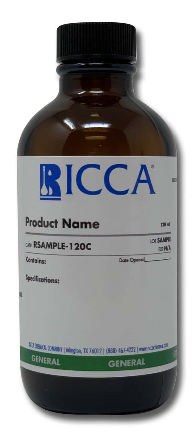 Ferroin Indicator, 0.025 Molar Phenanthroline Ferrous Sulfate Complex, Ricca Chemical