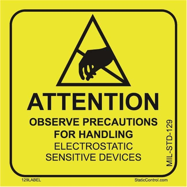 SCSAttention Label (MIL-STD-129N) 2 x 2 in.:Facility Safety and Maintenance